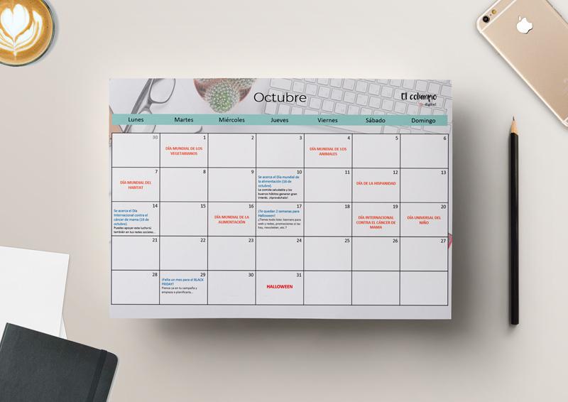 Calendario ecommerce 2019 ambiente mesa
