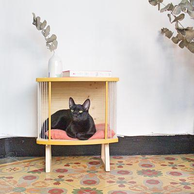 Cama de madera para gatos Ringo